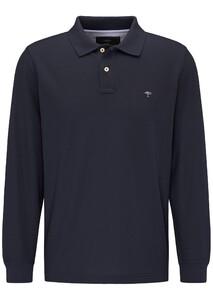 Fynch-Hatton Longsleeve Uni Poloshirt Navy