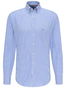 Fynch-Hatton Maritime Story Fine Stripe Overhemd Blauw