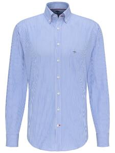Fynch-Hatton Maritime Story Fine Stripe Shirt Blue