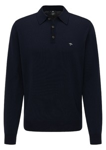 Fynch-Hatton Meirno Polo Collar Button Pullover Navy