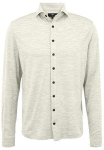 Fynch-Hatton Melange Merino Jersey Overhemd Canvas