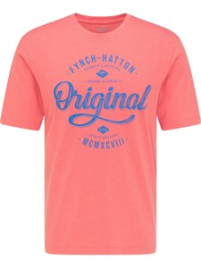 Fynch-Hatton Melange Original Print T-Shirt Coral-Royal