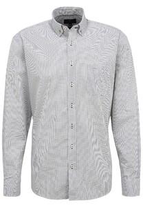 Fynch-Hatton Micro Multi Dot Button Down Shirt White