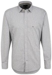 Fynch-Hatton Mini Half Circles Pattern Shirt White-Multi