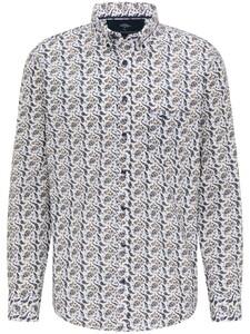 Fynch-Hatton Modern Bold Paisley Button Down Overhemd Blauw