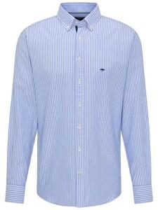 Fynch-Hatton Modern Oxford Stripe Shirt Blue