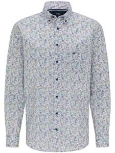 Fynch-Hatton Modern Premium Bold Multicolor Paisley Overhemd Multicolor