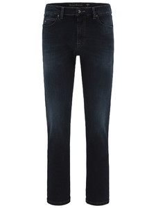 Fynch-Hatton Mombasa All-Season High Flex Denim Jeans Dark Evening Blue