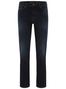Fynch-Hatton Mombasa All-Season High Flex Denim Jeans Donker Blauw