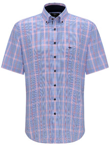 Fynch-Hatton Multi Check Button Down Overhemd Cotton Candy-Blossom