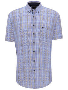 Fynch-Hatton Multi Check Button Down Overhemd Earth-Blue