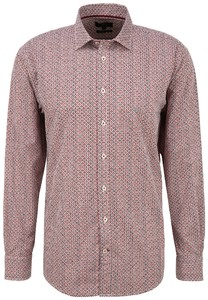 Fynch-Hatton Multi Connected Dots Pattern Shirt Red-Orange