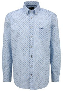 Fynch-Hatton Multi Minimal Pattern Overhemd Blue-Earth