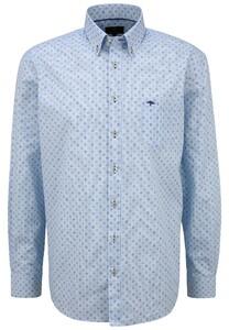 Fynch-Hatton Multi Minimal Pattern Shirt Blue-Earth