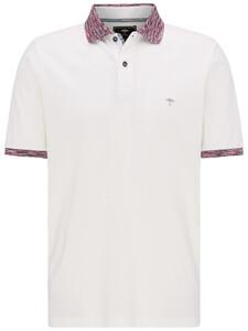 Fynch-Hatton Multicolored Collar Polo White-Thistle
