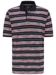 Fynch-Hatton Multicolored Stripe Polo Thistle