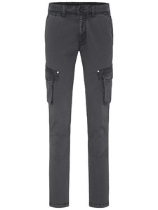 Fynch-Hatton Namibia Cargo Garment Dyed Broek Charcoal