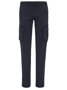 Fynch-Hatton Namibia Cargo Garment Dyed Broek Navy