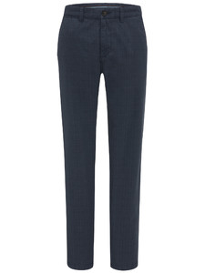 Fynch-Hatton Namibia Garment Dyed Check Broek Midnight