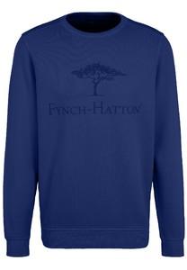 Fynch-Hatton O-Neck Chest Logo CmiA Cotton made in Africa Trui Ink