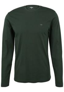 Fynch-Hatton O-Neck Cotton Longsleeve T-Shirt Emerald