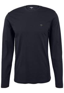 Fynch-Hatton O-Neck Cotton Longsleeve T-Shirt Navy