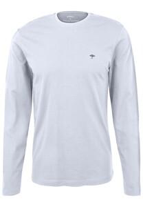 Fynch-Hatton O-Neck Cotton Longsleeve T-Shirt White