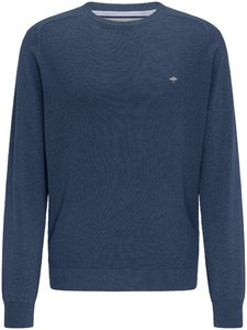 Fynch-Hatton O-Neck Front Structure Trui Night