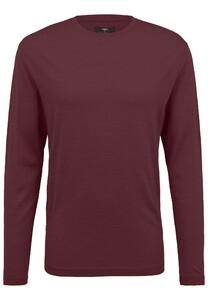 Fynch-Hatton O-Neck Longsleeve Merino T-Shirt Amarena