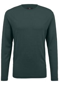 Fynch-Hatton O-Neck Longsleeve Merino T-Shirt Emerald