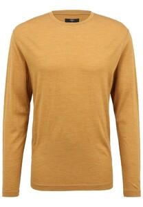Fynch-Hatton O-Neck Longsleeve Merino T-Shirt Mosterd