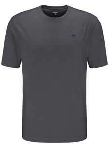 Fynch-Hatton O-Neck Uni Cotton T-Shirt Asphalt