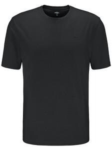 Fynch-Hatton O-Neck Uni Cotton T-Shirt Zwart