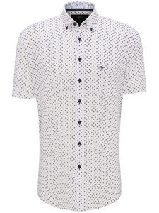 Fynch-Hatton Palmtree Katoen Linnen Overhemd Wit