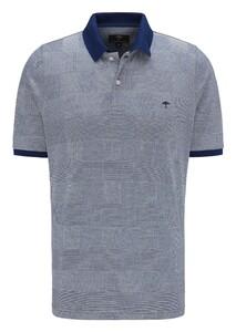 Fynch-Hatton Polo Check Poloshirt Midnight