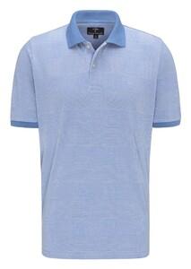Fynch-Hatton Polo Check Poloshirt Pacific