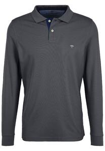 Fynch-Hatton Polo Longsleeve Poloshirt Asphalt