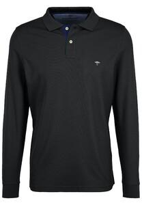 Fynch-Hatton Polo Longsleeve Poloshirt Black