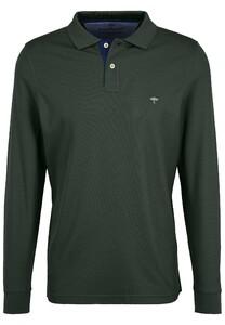 Fynch-Hatton Polo Longsleeve Poloshirt Emerald