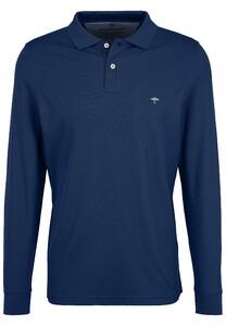 Fynch-Hatton Polo Longsleeve Poloshirt Midnight