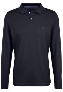 Fynch-Hatton Polo Longsleeve Poloshirt Navy