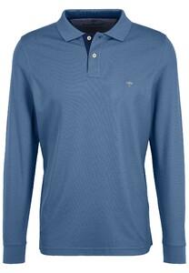 Fynch-Hatton Polo Longsleeve Poloshirt Pacific