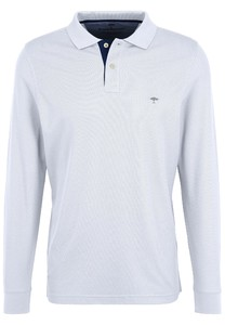 Fynch-Hatton Polo Longsleeve Poloshirt White