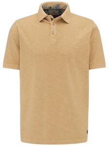 Fynch-Hatton Polo Slub Jersey Poloshirt Camel