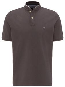 Fynch-Hatton Polo Stand-Up Collar Polo Asphalt