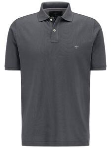 Fynch-Hatton Polo Uni Cotton Poloshirt Asphalt