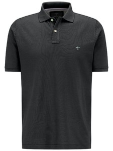 Fynch-Hatton Polo Uni Cotton Poloshirt Black