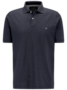 Fynch-Hatton Polo Uni Cotton Poloshirt Navy