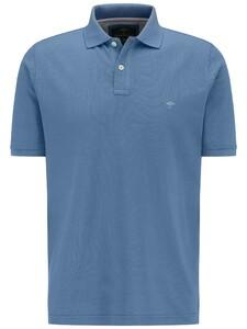Fynch-Hatton Polo Uni Cotton Poloshirt Pacific