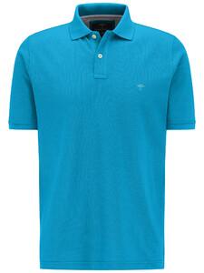 Fynch-Hatton Poloshirt Cotton Uni Poloshirt Crystalblue